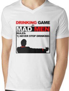 Drinking Game... for Mad Men Mens V-Neck T-Shirt
