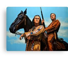 Winnetou and Old Shatterhand Painting Canvas Print