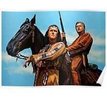 Winnetou and Old Shatterhand Painting Poster