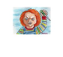 Hi, I'm Chucky. Wanna play? Photographic Print