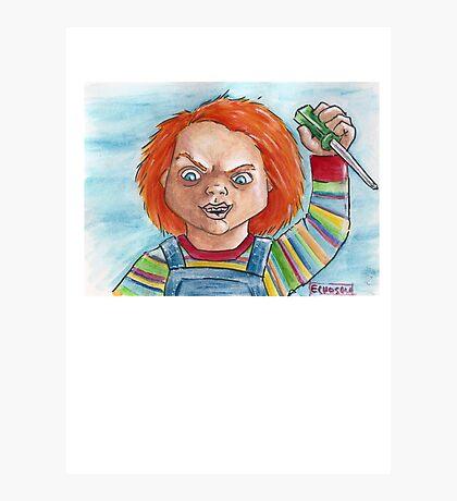 Hi, I'm Chucky. Wanna play? Photographic Print
