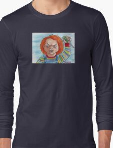 Hi, I'm Chucky. Wanna play? Long Sleeve T-Shirt
