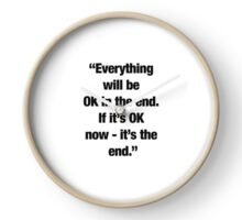 """""""It's the end."""" Clock"""