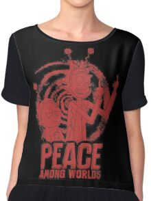 Peace Among Worlds_Red Chiffon Top