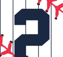 Derek Jeter Baseball Design Sticker