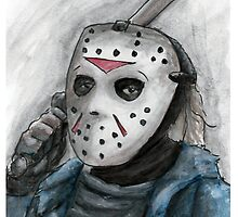 Ch-ch-ch-ha-ha-ha...Jason is watching you. by EchoSoloArt
