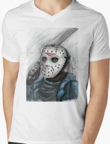 Ch-ch-ch-ha-ha-ha...Jason is watching you. Mens V-Neck T-Shirt