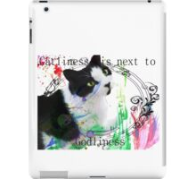 Catliness is next to Godliness [Transparent] iPad Case/Skin