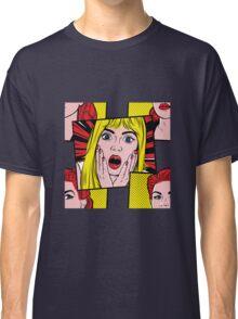 Pop Art Surprised Girl Classic T-Shirt