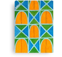Lighted Arched Windows Pattern  Canvas Print