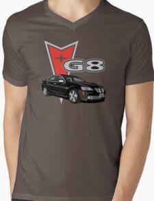 G8 Black Mens V-Neck T-Shirt