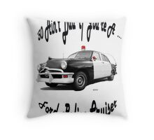 Birthday gifts for a 40 yr. old; Ford Throw Pillow