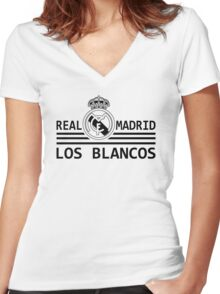 Real Madrid - Madridista Women's Fitted V-Neck T-Shirt