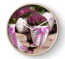 Blooming Calluna vulgaris plant  Clock