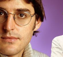 Louis Theroux 90s Tee Sticker