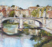 Ponte Vittorio Emanuele II, Rome by Terri Maddock