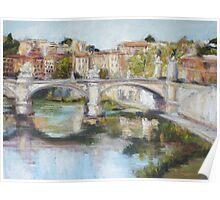 Ponte Vittorio Emanuele II, Rome Poster