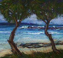Sussex Inlet - cheer leader trees by Terri Maddock