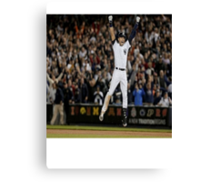 jumping jeter Canvas Print