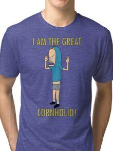 CORNHOLIO! Tri-blend T-Shirt