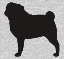 Pug Silhouette Kids Clothes