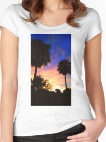 Magical Sunset Women's Fitted Scoop T-Shirt