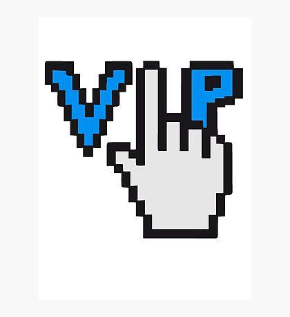geek nerd computer maus steuerung hand klicken surfen web desktop VIP pc pfeil zeigen finger  Photographic Print