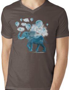 Magical Blue Elephant Mens V-Neck T-Shirt