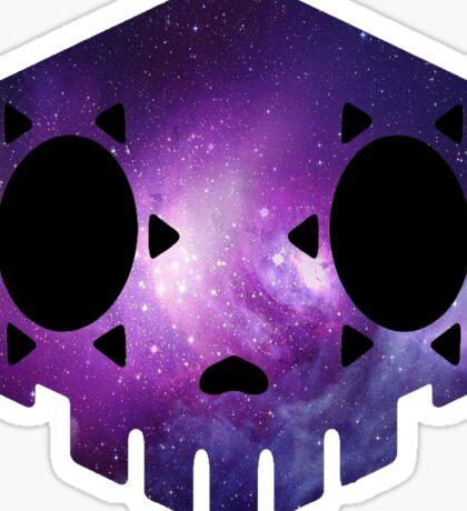 Galaxy Sombra Sugar Skull Sticker