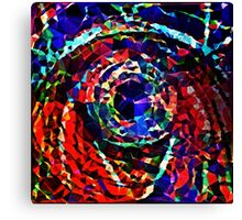 Rainbow Polygon Swirl Canvas Print