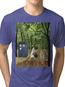TARDIS Travel Tri-blend T-Shirt