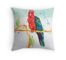 The Parrot King Throw Pillow