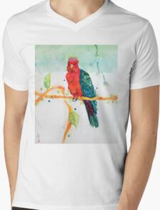 The Parrot King Mens V-Neck T-Shirt