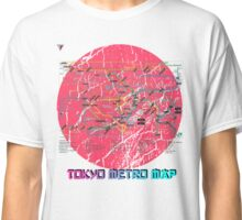 Tokyo Metro Map Japanese City Urban Style T-Shirt by Cyrca Originals Classic T-Shirt