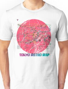 Tokyo Metro Map Japanese City Urban Style T-Shirt by Cyrca Originals Unisex T-Shirt