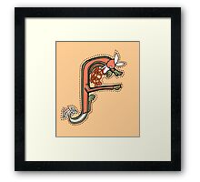 Fox - Letter F Framed Print