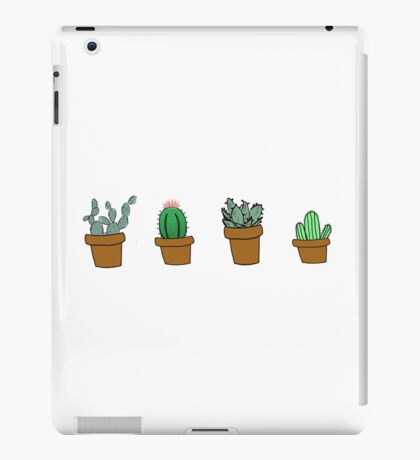 cactus hipster drawing iPad Case/Skin