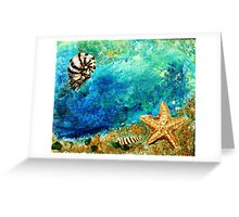 Sea star and nautilus Greeting Card