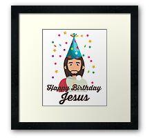 Happy Birthday Jesus T-Shirt - Christmas Holidays Christian Framed Print