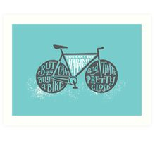 You Can't Buy Happiness (Teal) Art Print