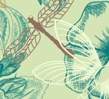 Beautiful Drangonfly and flowers pattern Sticker