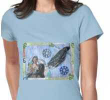 Princess & The (Pea)cock Womens Fitted T-Shirt