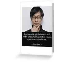 Hideo Kojima  Greeting Card