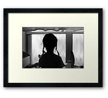 pigtails and memories Framed Print