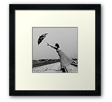 flying in the wind Framed Print