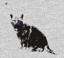 Black Cat for Kitten Cat Lovers Artwork T-Shirt by Cyrca Originals Kids Tee
