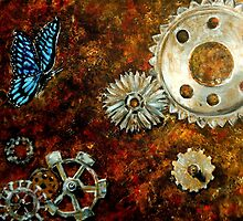 Butterfly and Rusty Cogs by DoriAnderson