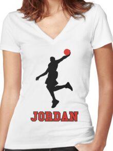 Michael Jordan BasketBall Women's Fitted V-Neck T-Shirt