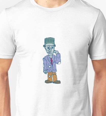 Frankenstein Monster Standing Cartoon Unisex T-Shirt