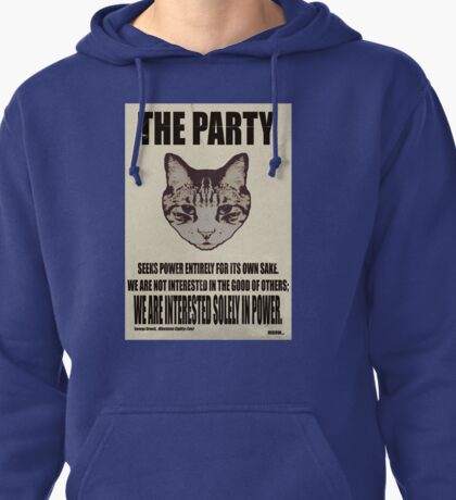 Orwellian Cat Is Not Interested Pullover Hoodie